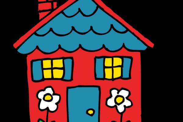 house, cartoon drawing-- 8iGEzd4gT
