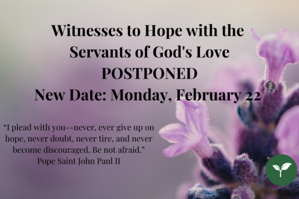 Witnesses to Hope Postponed, website