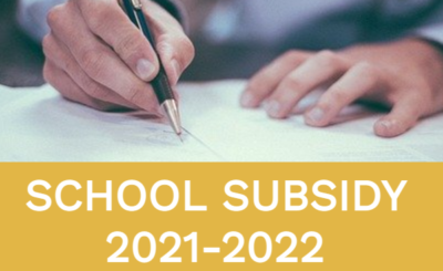 School Subsidy 2021-2022