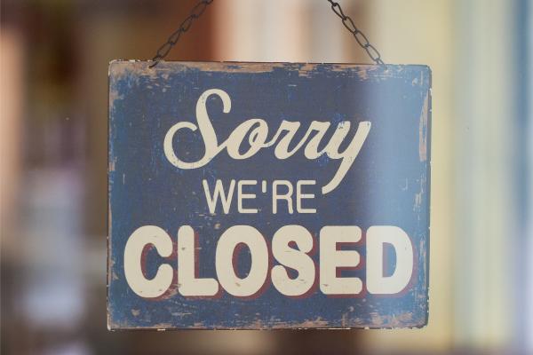 Closed, website